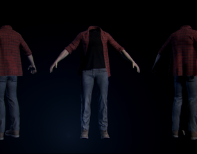 Full clothed body - Skinned to joints armature 3D model