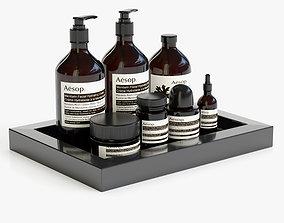 Bathroom accessories 02 3D model tray