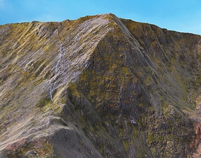 3D asset Mount Snowdon Peak - Low and High Poly Versions