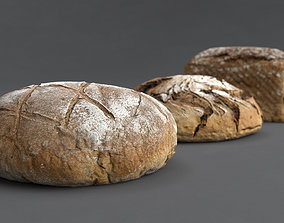 3D model CollectionOfBreads Photoscanned PBR Ready