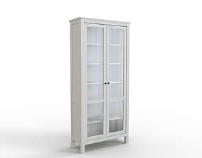 3D model HEMNES Glass-door cabinet white stain