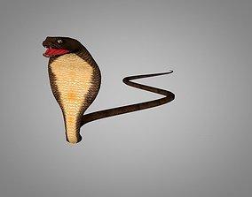 3D model animated Snake Cobra