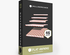 game-ready Flat Awning Single Asset Collection