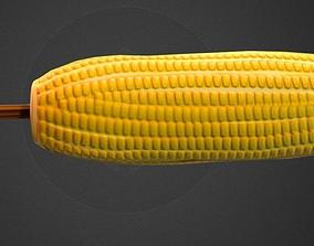 3D asset Corn Low Poly