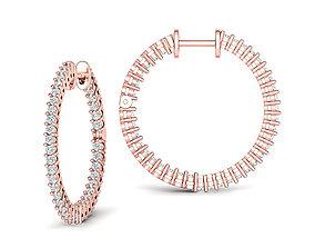 25mm Hoop earrings unique design printable 3dmodel