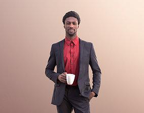 3D model Bruce 10751 - Elegant Man Standing Holding A Cup