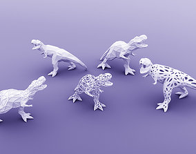 3D PRINTED MODEL T-REX-5-PATTERN-POSE