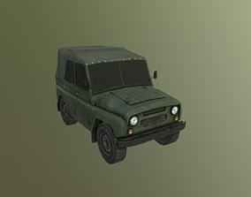 UAZ Jeep - Lowpoly Game Ready 3D model