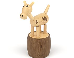 Wooden toy cow 3D