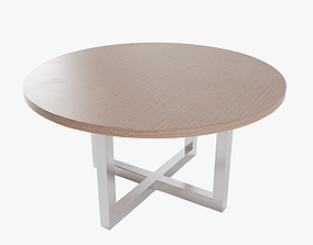 3D model Round Table Lowpoly