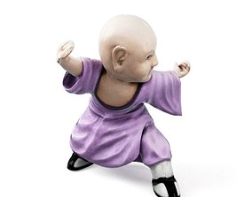 Purple Robed Monk 3D