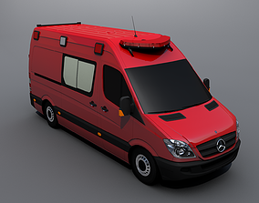3D model Mercedes-Benz Sprinter Ambulance