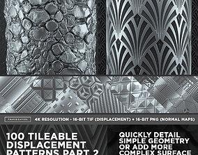 3D 100 Tileable Displacement And Alpha Patterns Part 2