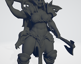 3D print model Female Norse Berserker Lord