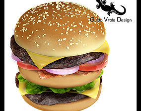 bread Hamburger 3D model