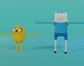 Finn and Jake - Adventure Time 3D asset