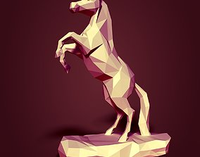 Low Poly Horse Statue Ready for 3D 3D asset