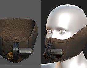 Gas mask helmet scifi fantasy 3D model 2