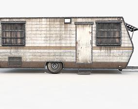 Caravan Trailer House 3D asset