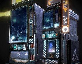 SciFi Vending Machine 3D asset