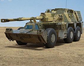 g-6 3D model G6 howitzer
