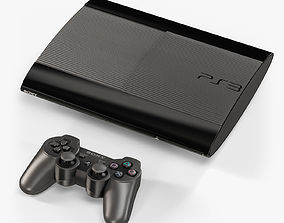 3D model Sony PlayStation 3 Super Slim