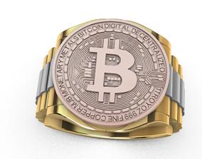 3D print model Bitcoin ring Anillo