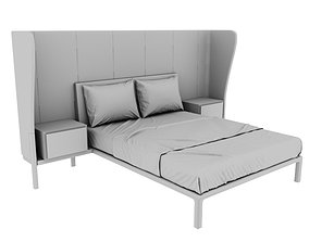 Plaza Suite Winged Bedhead 3D