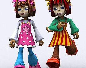 3DRT - Chii Monkeygirls animated