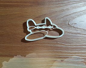 Airplane cookie cutter 3D print model