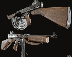 3D asset m1921 thompson