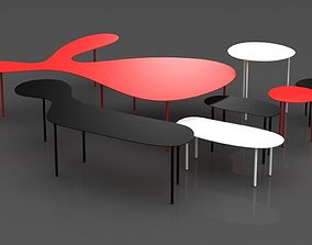 3D table Rabbit e Tortoise Collection by Living Divani