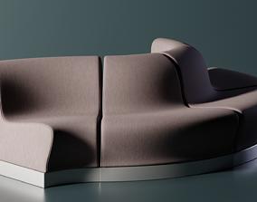 3D model PBR Enterprise D Counsellor Office Sofa
