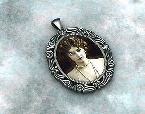 antique frame necklace 3d modelling printer