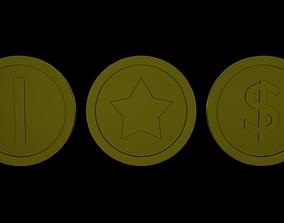 3D model High polygonal coins