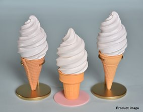 Ice Cream and Corn Cup 3 types 3D printable model