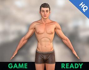 3D asset Man Stylized Body Male Game Ready Character PBR