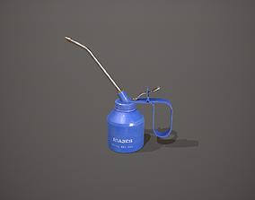 Blue Oil Can 3D model