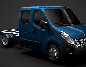 3D model Renault Master CrewCab DW E20 Chassis 2010