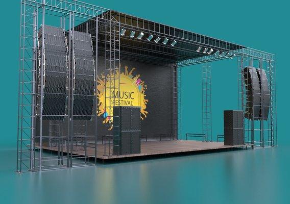 Concert scene - PBR