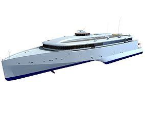 watercraft 3D model Austal Super Fast Yacht