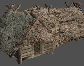 3D asset Big Wooden Hut - Enterable