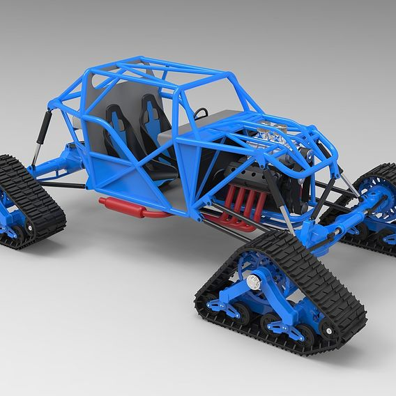 Buggy with Mattracks Suspension tracks