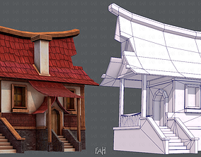 3D asset House Cartoon V07