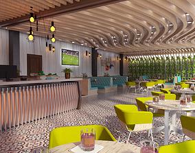 desing 3D cafe design