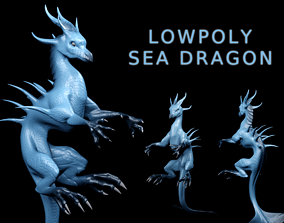 Lowpoly Sea Dragon 3D asset