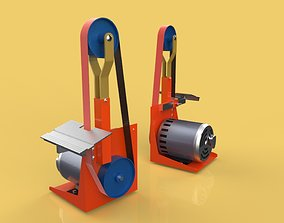 BELT GRINDER SANDER BUFFER EDGE POLISHING MACHINE 3D model