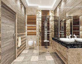 bathroom interior design 3d model Low-poly 3D low-poly