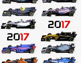 3D asset Formula 2017 cars