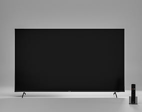 3D model TV Sony 65 inch XH90 with remote